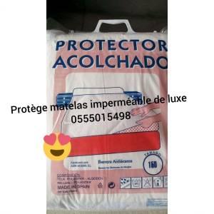 Alger-Maison-Jardin-protège-matelas-imperméable-100%.-coton-qualité-Es
