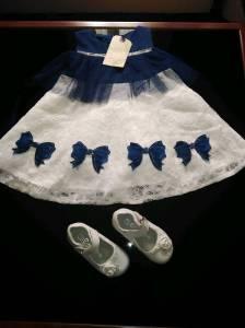 Alger-Bébé-Enfant-Robe-avec-chaussures-pour-fille-age-1-an